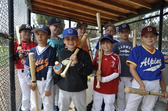 participants in Alpine Little League wood bat Memorial Weekend competition
