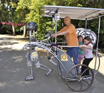Robot Chariot at Peninsula School fair