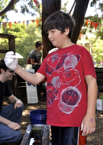 hand wax at Peninsula School faire