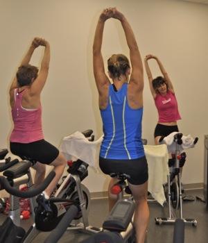 spinning class at Arrillaga Family Gymnastics Center