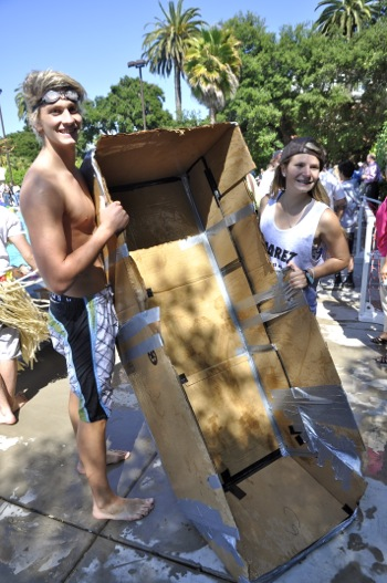 Sacred Heart Prep students show that physics can be fun in annual cardboard canoe races