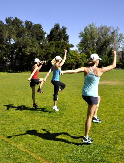 Kamp Fitness class at Lyle Park in Menlo Park