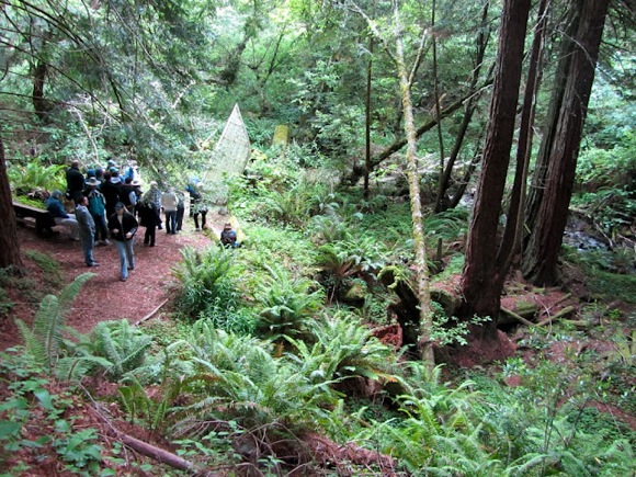 Djerassi tour group in woods