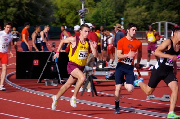 Jordan Scandlyn ran track and cross country for Menlo Atherton High School