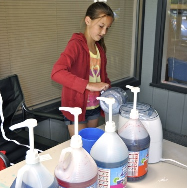 Snow cones offered at Dr. Scott Kaloust, a Menlo Park orthodontist, office