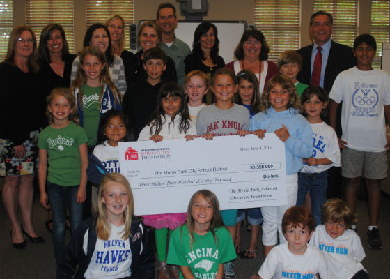 Post image for Menlo Park-Atherton Education Foundation grants a record $3.35 million to school district
