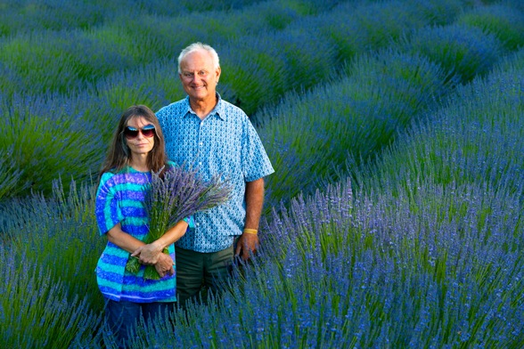 Charlie Opper and Linda Barrett of Cache Creek Lavender Farm