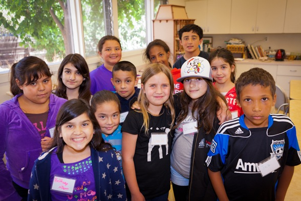 campers taking part in Camp Bloomsbury at Menlo Park's Little House
