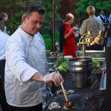 Chef Chuck Courtney at Menlo Grill