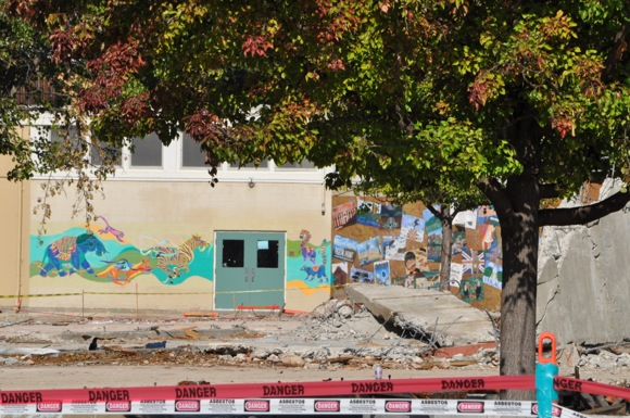 Spotted: Some murals saved at Hillview School?