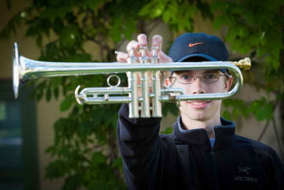 Trumpet player Kai Banks at Summer Brass Institute