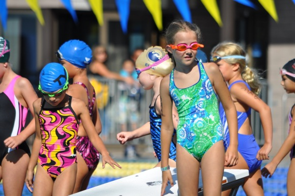 Children's triathlon is held at Burgess Park in Menlo Park