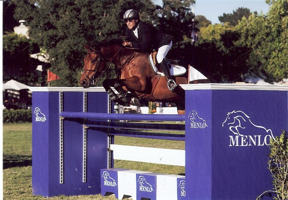 Peter Breakwell competing at Menlo Charity Horse Show