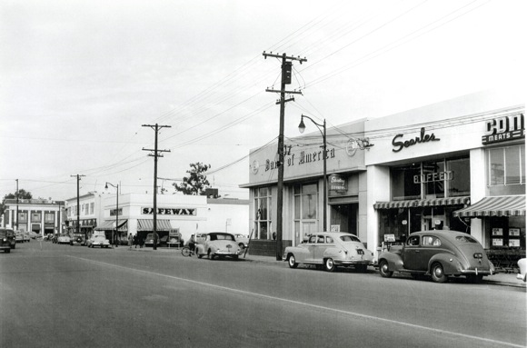 Downtown Menlo Park circa late 1950s