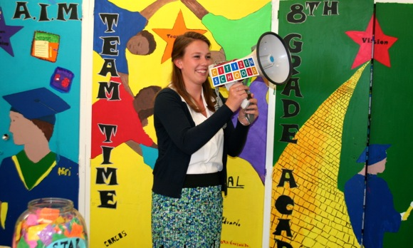 Sydney Young interns at Citizens School in a program funded by the Bank of America Charitable Foundation