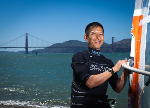 Menlo Park resident Ted Huang, who competed in windsurfing at the Olympics