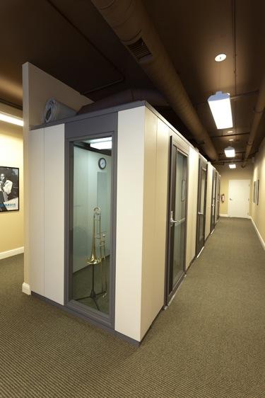 Bridgepoint Music practice rooms