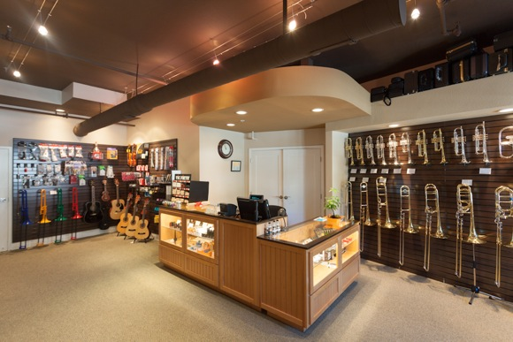 retail space at Bridgepoint Music in Menlo Park