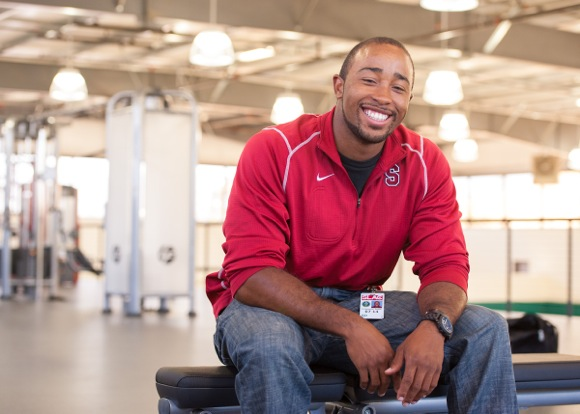 Chris Spells, manager of SLAC's Arrillaga Recreation Center