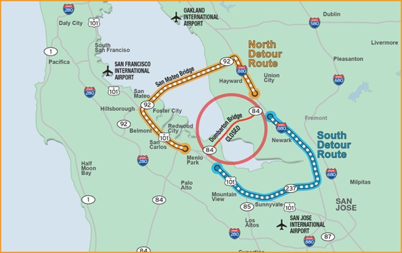 Dumbarton Bridge will be closed over Labor Day weekend 2012