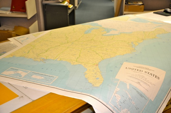 maps at USGS in Menlo Park