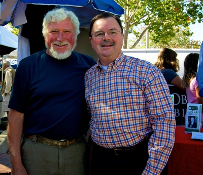 Pietro Parravanno and Rich Gordon at Menlo Park Farmers Market