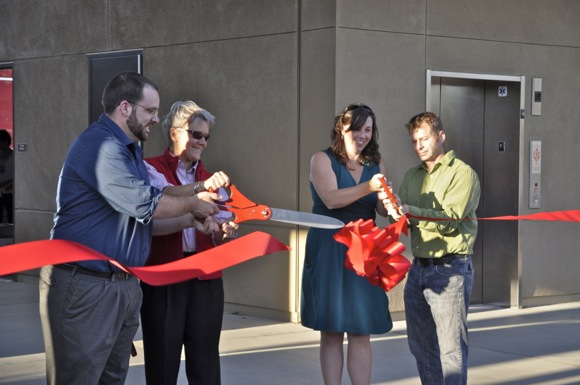 Ribbon cutting at new Digital Media Arts Center at Menlo-Atherton High School