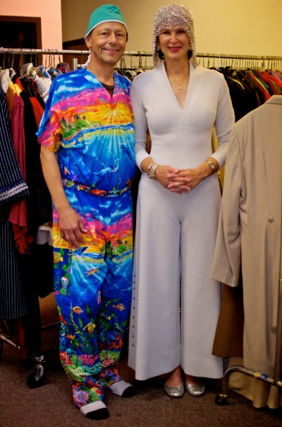 Wally Niemasik and Julie Kaufman at TheatreWorks costume closet