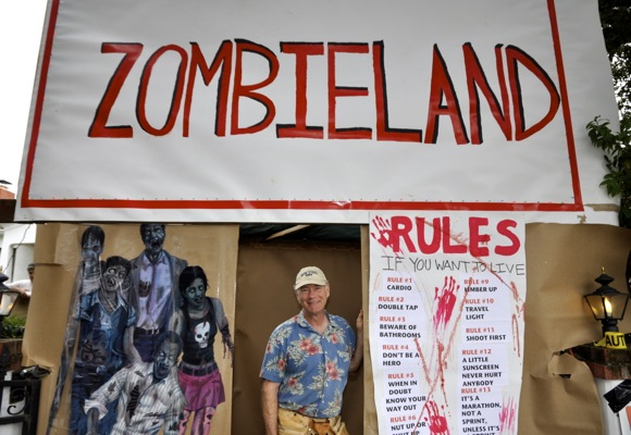 Al Stahler puts on Zombieland on Halloween in Menlo Park