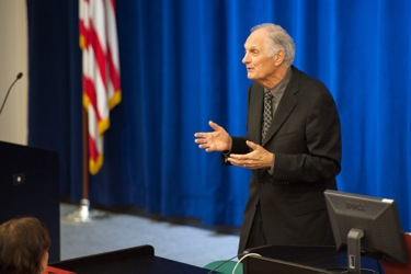 Alan Alda at SLAC in Menlo Park