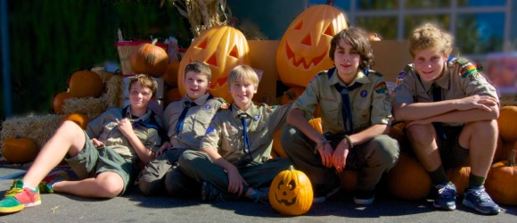 Members of Menlo Park Boy Scout Troop 222