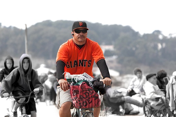 San Francisco Giants fan at Crissy Field