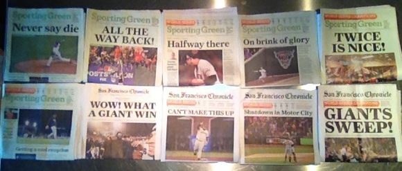 San Francisco Giants headlines by photographer Scott R Kline