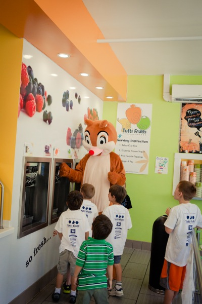 Laurel School Super Squirrel at Tutti Fruiti in Menlo Park