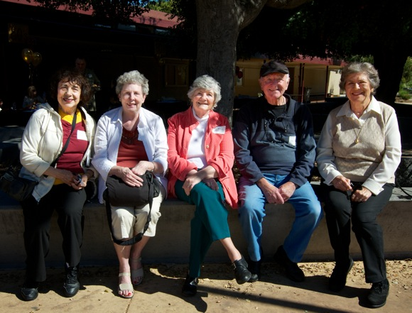 Representatives from the Menlo-Atherton High School class of 1952 attend M-A 60th anniversary