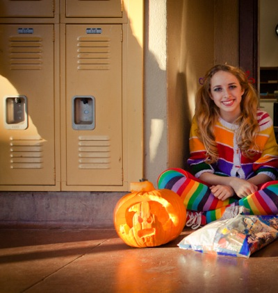 Trick or treating starts early on the Menlo-Atherton High School campus