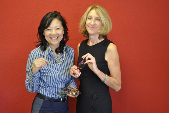 Pattie Lee-Hoffman and Gayle Haworth of Flutter Eyewear