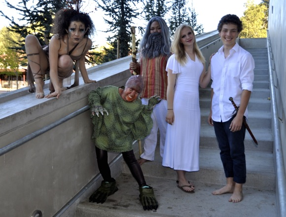 Cast of The Tempest, a production at Menlo Atherton High School