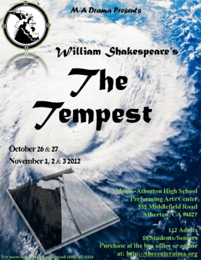 Shakespeare's The Tempest comes to the Menlo-Atherton High School Performing Arts Center