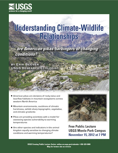 USGS public lecture in November 2012
