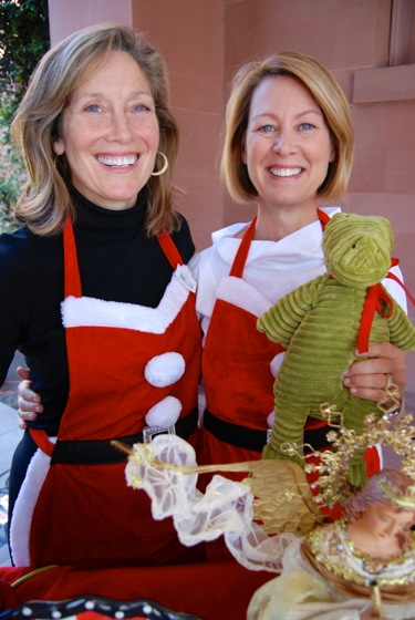 Deb Barnum of Atherton and Sarah Boyden of Portola Valley, chairs of Sacred Heart Prep Holiday Boutique
