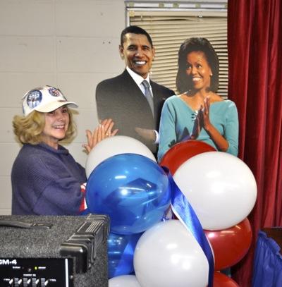 Menlo Park celebrates Obama victory on election night