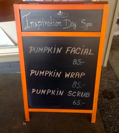 Post image for Spotted: Spa services with a pumpkin twist