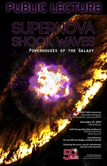 Shocking aftermath of supernova explosions is topic of SLAC public lecture on Nov. 27