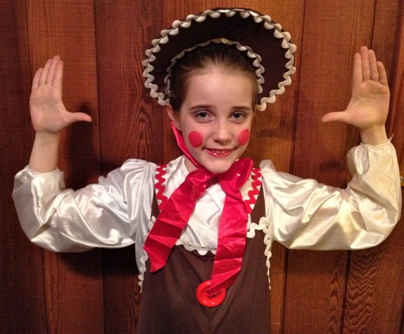 Abby of Menlo Park is Gingerbread Man in Nutcracker