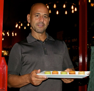 Ali Elsafy with macaroons are Bistro Vida