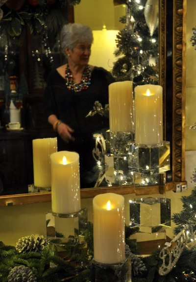 Luminara candles at Quintessence in Menlo Park