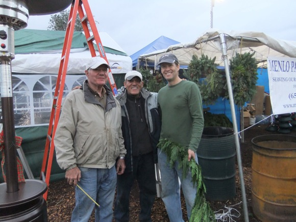 Menlo Park Kiwanis at tree lot