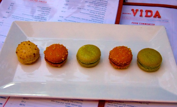 Macaroons at Bistro Vida