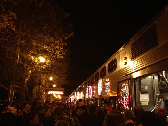 Holiday train in Menlo Park